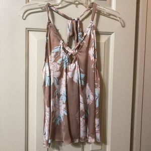 Free People dressy top in floral print